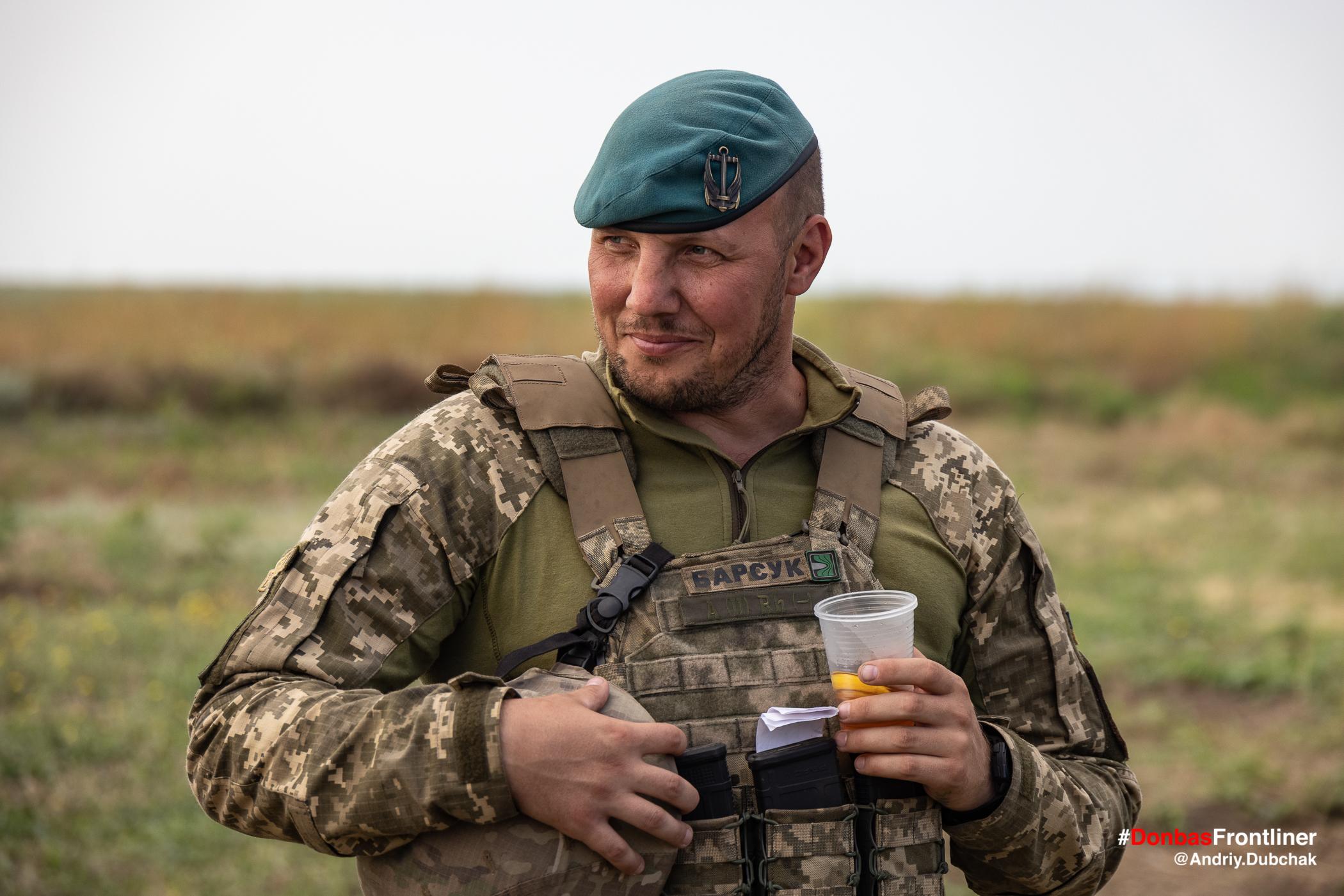 Командир 503 батальйону морськ піхоти Барсук. Бойове тренування 503-го батальйону морської піхоти на Приазов'ї, липень 2021 року