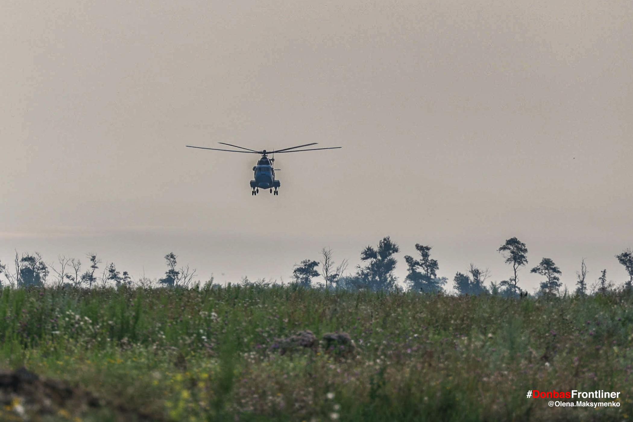 Гелікоптер. Бойове тренування 503-го батальйону морської піхоти на Приазов'ї, липень 2021 року
