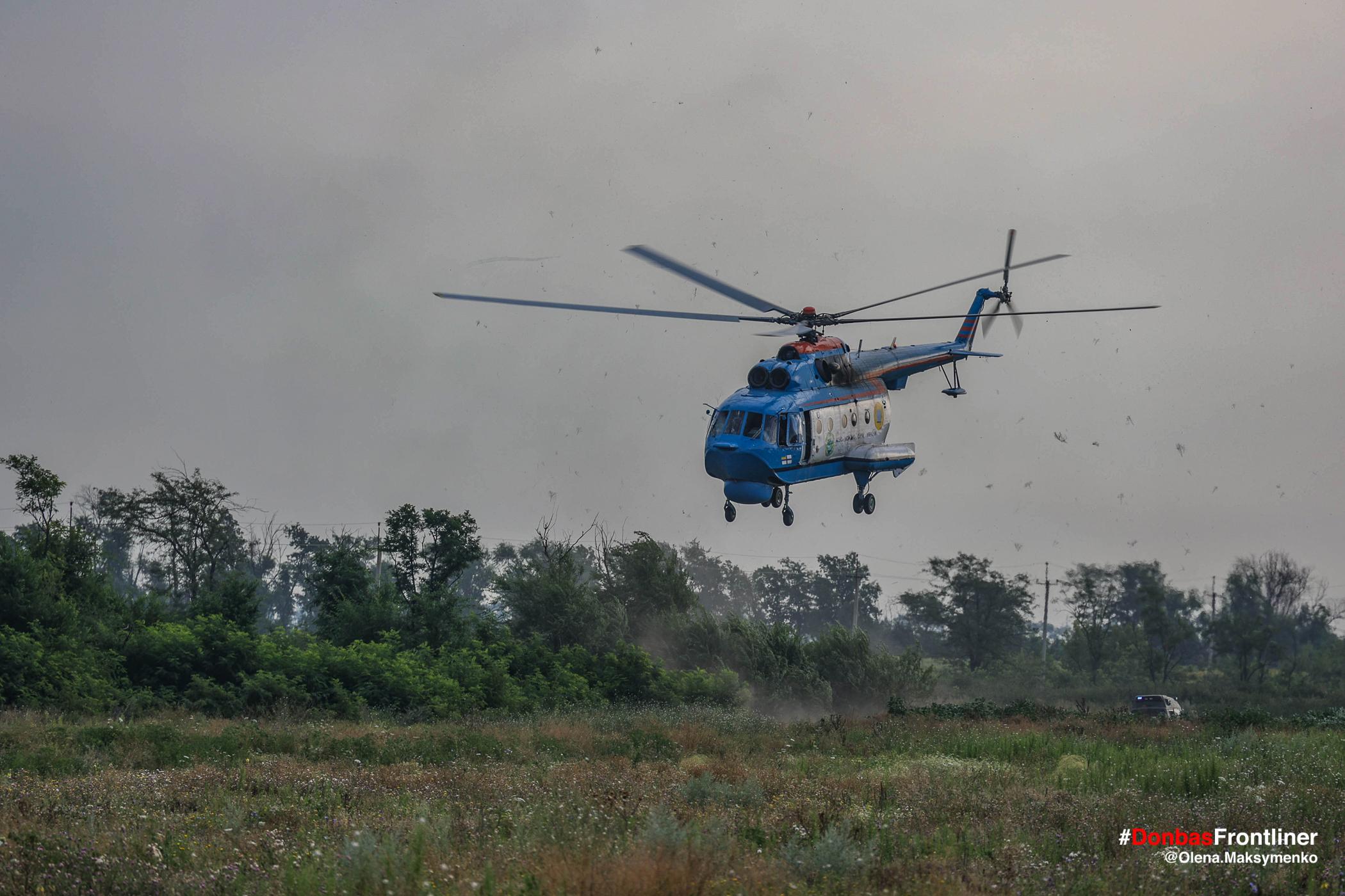 Бойовий гелікоптер. Бойове тренування 503-го батальйону морської піхоти на Приазов'ї, липень 2021 року