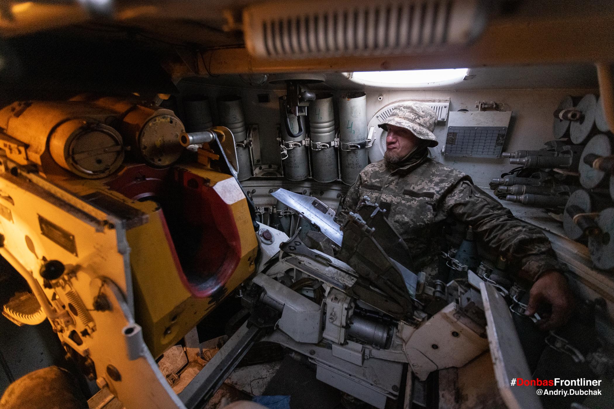 Всередині САУ. Бойове тренування 503-го батальйону морської піхоти на Приазов'ї, липень 2021 року