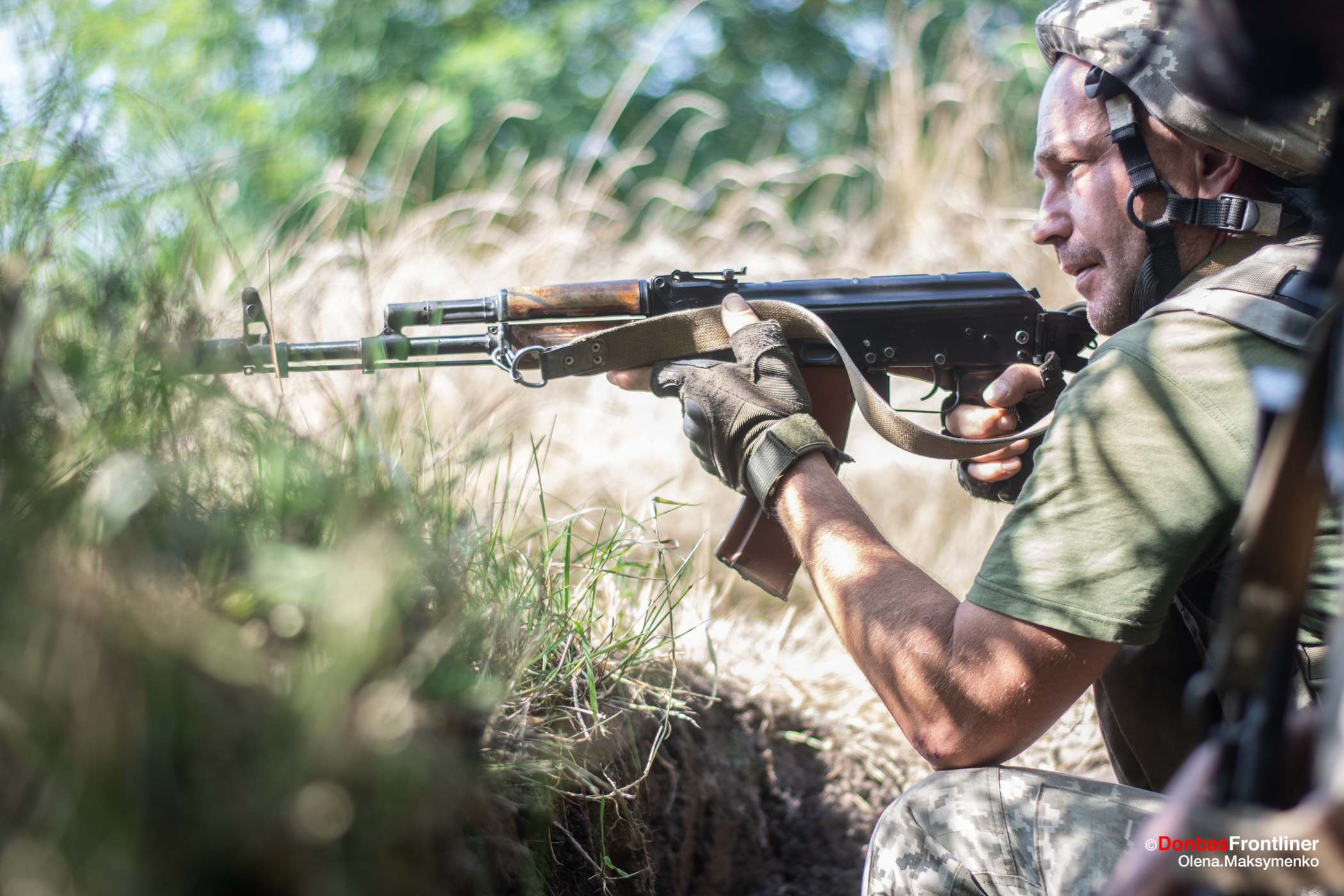 Ukraine soldier fight with russian forces
