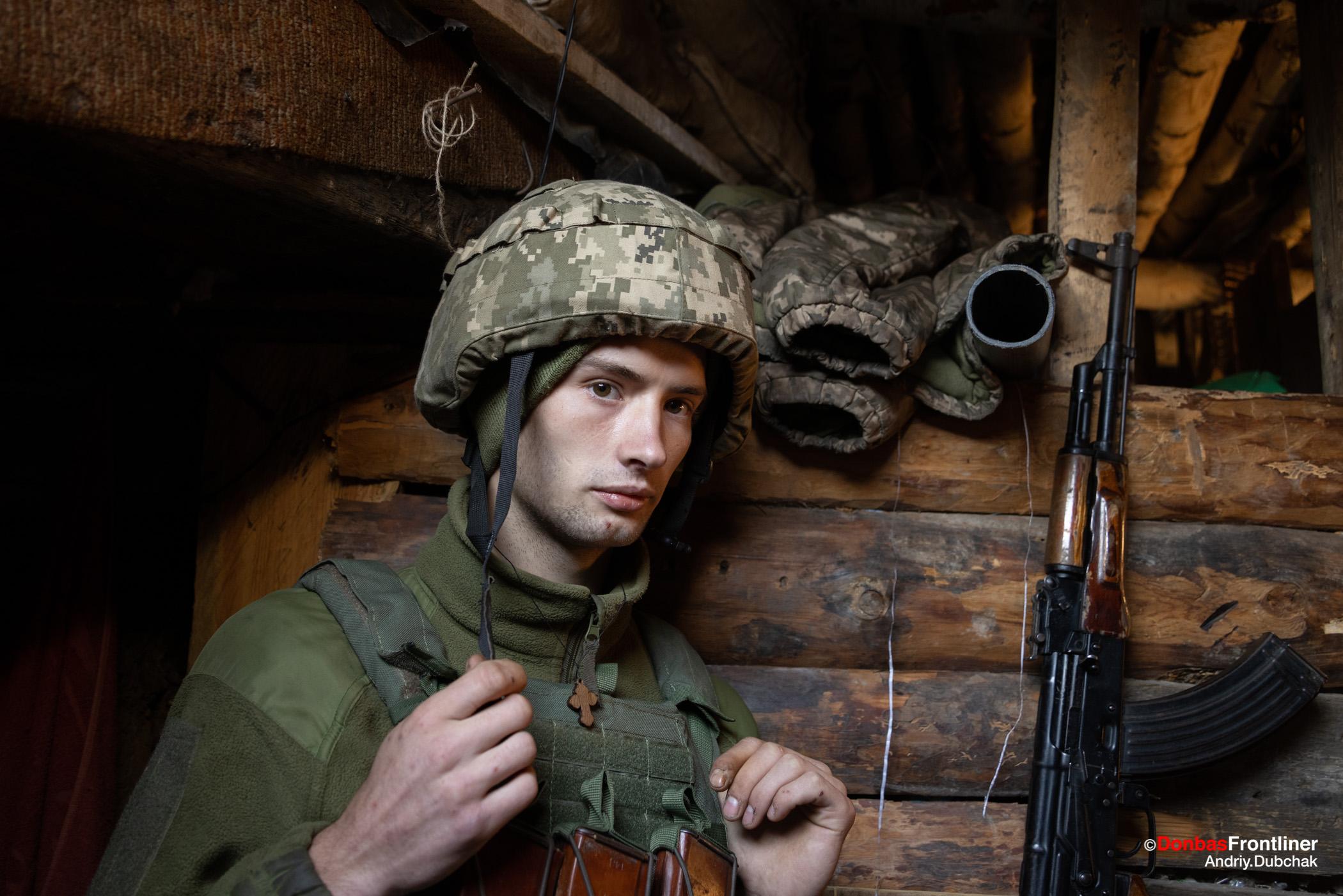 Donbas Fropntliner. Війна у Золотому - молодий боєць