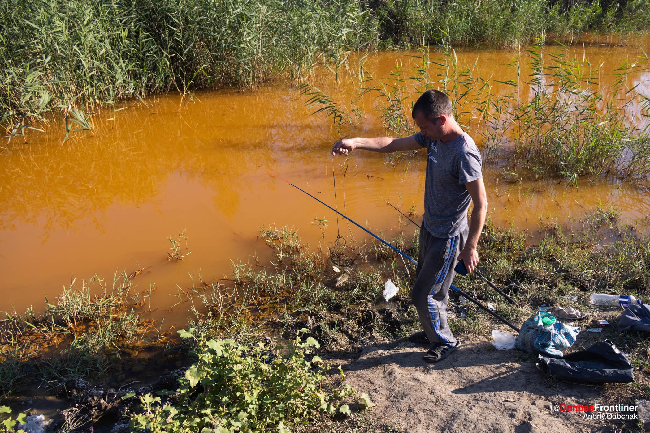 Donbas Frontliner / Затоплені шахти. Золоте. Екологічна катастрофіа. Шахтні води. Рибалка. Сіверський-Донець. Комишуваха