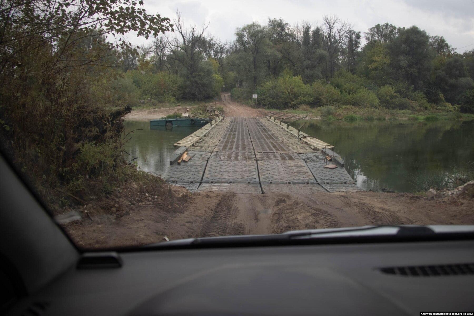 Donbas Frontliner / Пантонна переправа до села Кримське через річку Сіверський Донець